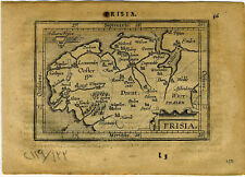 1609 Genuine Antique miniature map of the Netherlands, Holland. by A. Ortelius