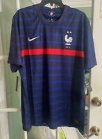 Men's NWT France Soccer Football Home Jersey 2020 Comfort CD0700-498 Size XL