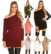 Koucla Long Jumper Knitted Pullover Knitted Mini Dress With XL Collar