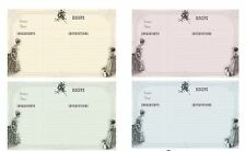 Jane Austin recipe cards set of 8 laminated 4 colors