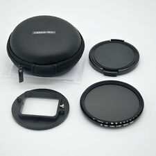 58mm ND2-ND400 adjustable filter+storage bag for Gopro Hero 4 3+ waterproof case