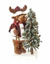 55cm Animated Reindeer with Tree Christmas Decoration