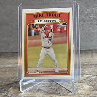 MIKE TROUT IN ACTION VARIATION PUZZLE 2021 Topps Heritage Puzzle A 170