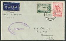 Australian Aerophilately: 19 Aug.1935 (AAMC.523) Darwin - Adelaide flown cover