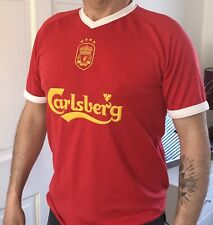 LFC Official Liverpool FC 2001-03 Retro Euro Home Football Shirt Medium M