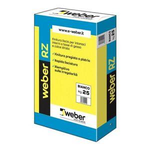 Weber RZ 25 kg bianco Finitura liscia a base di pietra di gesso e calce interni