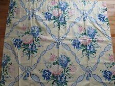 2 Gorg Bright Yellow Blues Pinks Greens Hydrangea Lined Panels Curtain 48x84 Ea