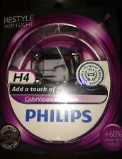 PHILIPS H4 COLOR VISION H4 PURPLE COLOUR VISION PHILIPS BULBS