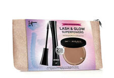 It Cosmetics Lash & Glow! Mascara + XL Bronzer Superpowers Set ($66 VALUE) NIP