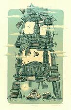 Exlibris Etching  Bookmark:  Ulyana Turchenko