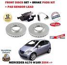 FOR MERCEDES A CLASS A170 W169 2004 > FRONT BRAKE DISCS SET + PADS + SENSOR KIT