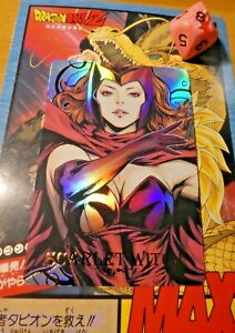MARVEL FAN CARD SMAK2 CARDDASS PRISM HOLO MIRROR GOLD CARTE GIRL SCARLET WITCH M