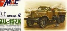 MAC Russo LKW ZIL-157K Camion cisterna Fuel camion 1:72 Modello kit Laster kit