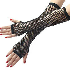 Womens Lace Mesh Fishnet Gloves Sexy Dance Costume Lady Party Fingerless Mittens