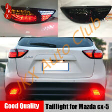 Smoked LED Taillights Rear Lamps Dynamic k Turn Signal Mazda CX-5 2013-2016