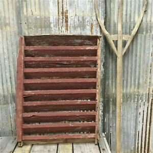 Wood Barn Louver, Architectural Salvage Shutter, Rustic Decor, Old Barn Vent H,