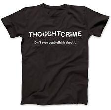 1984 Thought Crime George Orwell T-Shirt 100% Premium Cotton Animal Farm