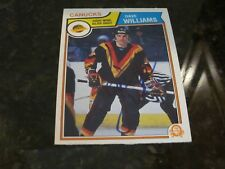 DAVE TIGER WILLIAMS AUTOGRAPHED 1983 O-PEE-CHEE CARD