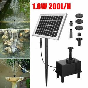 200L/H Solar Panel Powered Water Pump Garden Pool Pond Fish Aquarium Fountain UK