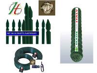 RETE METALLICA PLASTIFICATA + PALETTI + FILO PLASTIFICATO + TENDIFILO KIT175 CM