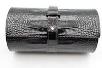 Montblanc Uhren Etui Kroko Optik Leder Reise Box für 2 Uhren - sehr gut, top -