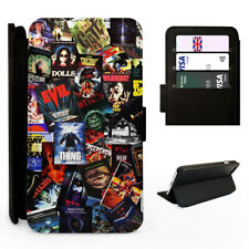 Horror Movie Poster Collage - Flip Phone Case Cover - Fits Iphone / Samsung