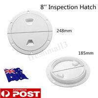 4''/6''/8'' Round Marine Screw Plate Inspection Hatch Plastic Access Boat RV AU