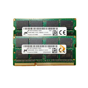 Micron 2x 16GB 2RX8 PC3L-12800S DDR3-1600Mhz 1.35V Laptop SODIMM RAM Memory 32GB