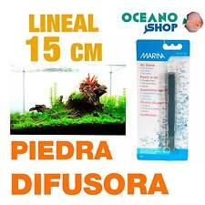 Piedra difusor rectangular 15cm Marina aire oxigenador CO2 bomba acuario