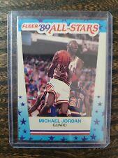 1989 FLEER MICHAEL JORDAN 3 ALL STAR STICKER BASKETBALL CHICAGO BULLS