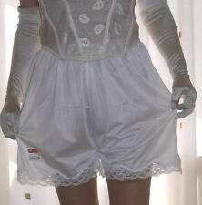 Vintage style cream silky nylon & lace french knickers panties briefs culottes