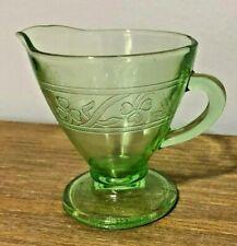 Antique Depression URANIUM glass HAZEL-ATLAS Cloverleaf Green