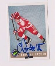 92/93 Classic Draft Sergei Brylin Team Russia Autographed Hockey Card