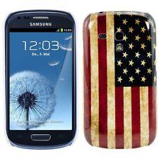Funda Ee.uu. Bandera Samsung Galaxy S3 Mini, de Eeuu Usado Look Carcasa Cover