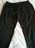 KATIES BEAUTIFUL SOFT 100% VISCOSE BLACK FITTED CARGO PANTS SIZE 14.