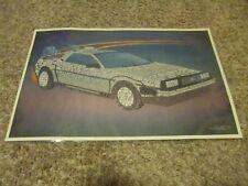 Back To The Future Lithograph Poster - Delorean - Very Rare!