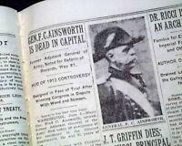 FRED C. AINSWORTH United States Army Surgeon & Adjutant General DEATH 1934 News