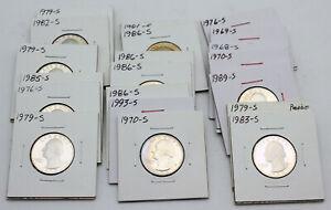 Lot of 22 Impaired Proof Washington Quarters  - 1968-1993