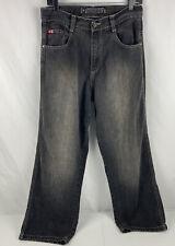 South Pole Denim Jeans Men Size 30 Black Denim Dark Wash Loose Baggy