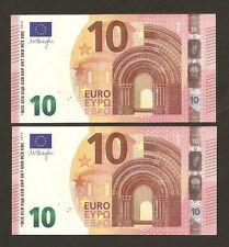 2 x 2014 nuova serie di 10 EURO CON NUMERO DI SERIE quasi tutti i corrispondenti FIOR