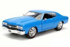 1/24 Jada 1970 Chevrolet Chevelle SS Diecast Model Car Blue 97828