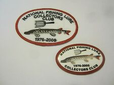 New listing Vintage fishing lure Nflcc patch and pin Spears