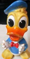 """VINTAGE 1960's WALT DISNEY PRODUCTIONS  DONALD DUCK 6"""" SQUEAK TOY Made in Italy"""