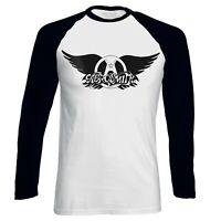 Aerosmith Classic Logo Official  Men Baseball T-shirt
