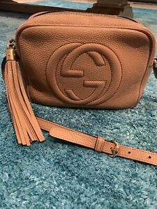 Gucci Soho Small Disco Bag Rose Beige