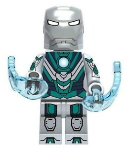 Golden Iron Man Downey Avengers Marvel Tony Stark MK31 Custom Lego Mini Figure