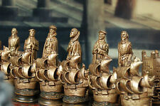 LARGE Elizabethan Chess Set, Customisable Colours (Pieces only/Board not include