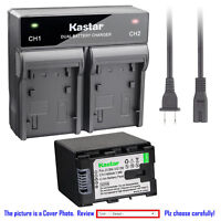 Kastar Battery Rapid Charger for JVC BNVG138 JVC Everio GZ-HM980 Everio GZ-HM990