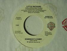 Little Richard 45 Somebody's Comin' / same song dj ~ WB M-