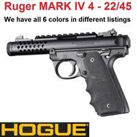 Hogue 79080 Black Rubber Finger Groove Grip RUGER 22-45 MARK IV MK 4 ONLY